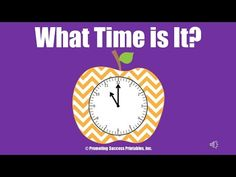 Promoting Success: Telling Time Printable Games, Activities and Songs for First, Second and Third Grade Teaching First Grade, Teaching Time, Teaching Math, Teaching Ideas, Math Classroom, Kindergarten Math, Telling Time For Kids, Math Songs, Math Measurement