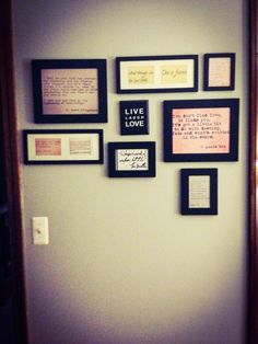 Quote wall! Easy