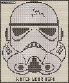 Stormtrooper Cross Stitch Pattern by StitchBucket