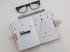 December Bullet Journal Cover Page / Titel Page   A6 Bullet Journal