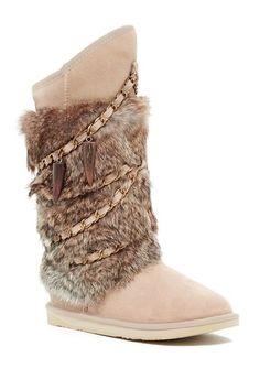 977166956e8f Image of Australia Luxe Collective Atilla Tall Genuine Shearling and Genuine  Rabbit Fur Boot