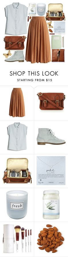 """""""VINTAGE COMBO"""" by strayalley ❤ liked on Polyvore featuring Chicwish, Oasis, MANGO, ASOS, Grafea, Dogeared, Fresh, Ahava and vintage"""