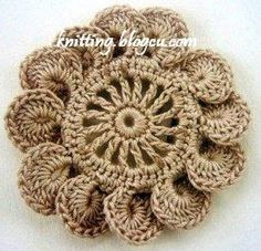 Crochet Crocodile Doily -  ❥
