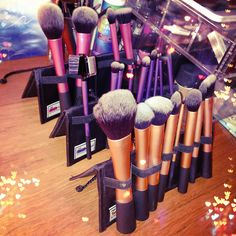 Real Techniques Brushes... The BEST makeup brushes...way better than Mac and half the cost! These are on my to-get list!!