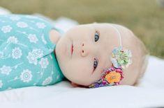 Olivia Fabric Flowers Headband Features three by BrittneyLeona