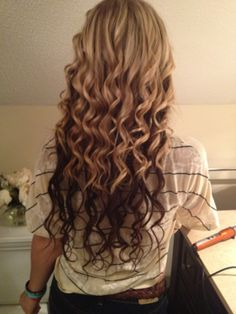 Love the curls and the two toned hair!
