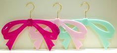 Bow coat hangers