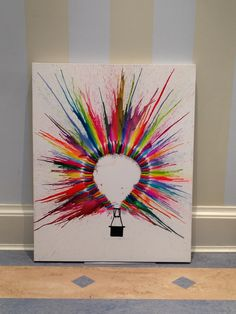 Hot Air Balloon Crayon Art