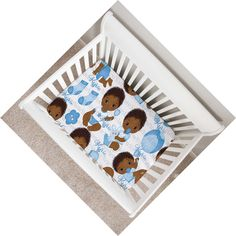 African American nursery decor and crib bedding sets for a black baby boy.