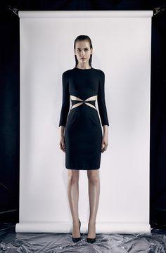 Cushnie Et Ochs Resort 2014 black dress, short dress, long sleeve, vestido manga longa, vestido preto, vestido curto