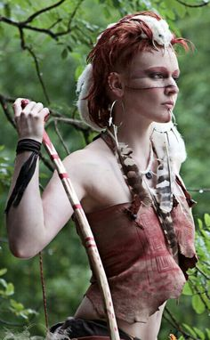 Woman Warrior of the feuding Terraformed Mars colonies... everyone must protect their tribe.