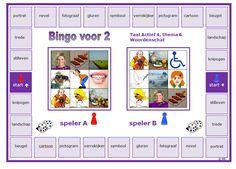 De woorden van thema 6 van Taal Actief nog eens oefenen met deze bingo voor 2. Bingo, Circuit, Map, Location Map, Maps