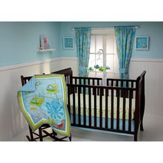 Little Bedding by NoJo - Ocean Dreams 3pc Crib Bedding Set - Collection Value Bundle (Wal-Mart $40)