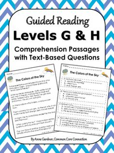 Reading Comprehension Passages for Guided Reading Levels G and HHelp your students become text detectives! This reading comprehension packet, which includes 15 reading passages, is designed to help kids become confident reading Levels G and H text and answering text-based questions.