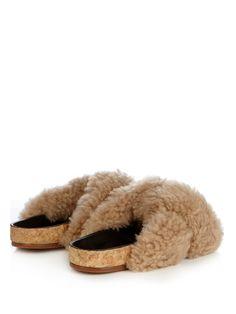 Kerenn shearling flat sandals | Chloé