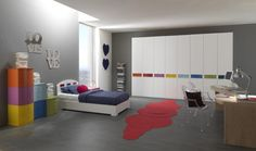 spacious modern bedroom for teens