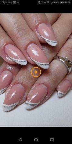 Маникюр дизайн ногтей в 2019 г. uñas de gel, uñas francesas и uñas pintadas Pink Nail Art, Glitter Nail Art, Toe Nail Art, Toe Nails, Pink Nails, Silver Glitter, Coffin Nails, French Nail Designs, Nail Art Designs