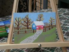 Texas Shed 5x7 painting by InspriationWorkshop on Etsy, $20.00