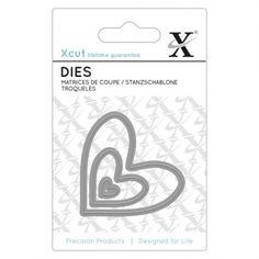 X-cut Mini Die (3pcs) - Nesting Hearts - X-cut from Mountain Ash Crafts UK