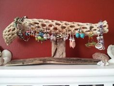 Earring Holder Jewelry Holder Driftwood Jewelry by HighTideDesigns, $38.50