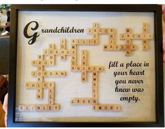 Best Diy Christmas Presents For Mom Scrabble Tiles Ideas Christmas Presents For Moms, Diy Christmas Gifts, Holiday Crafts, Great Grandma Gifts Christmas, Xmas, Homemade Christmas, Scrabble Letter Crafts, Scrabble Letters, Crafts With Scrabble Tiles