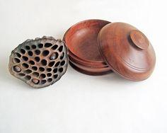 Hand Turned Wooden Trinket Dish