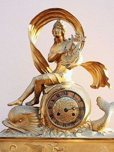 Early 19th C. French empire pendule in bronze