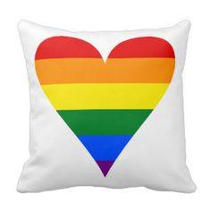 Bandeira alegre do coração Funky Travesseiro
