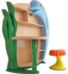 design dolphin shelf for children (Delphinregal)