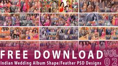 FREE 20 Indian Wedding Album Shape/Feather PSD Designs Vol-02   By Studi...