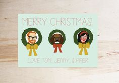 Your friends and family will love these personalized holiday cards.