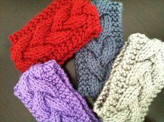 Items similar to Hand Knit Ear Warmer on Etsy Loom Knitting, Hand Knitting, Crotchet, Knit Crochet, Head Bands, Ear Warmers, Crocheting, Diy Ideas, Crafting
