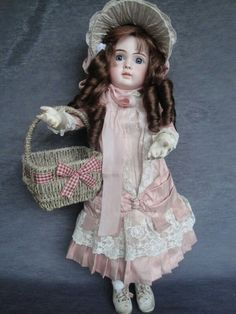 Very RARE Beautiful Antique Victorian Porcelain Doll Vintage Porcelain Dolls, Antique Dolls, Prams, Victorian, Antiques, Beautiful, Clothes, Collection, Dresses