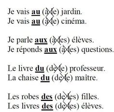 Les articles contractés ✿ French / Learning French / FSL / learning languages / Spoken French / Speaking French / French Vocabulary ✿ Repin for later!