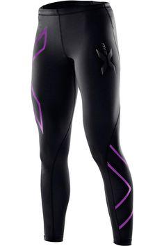 Women's Compression Tights, Black/Purple Lacquer, X-Large Sport Tights, Sports Leggings, Tight Leggings, Workout Attire, Workout Gear, Workouts, Womens Workout Outfits, Sport Outfits, Fitness Outfits