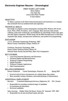 Example Of Electronic Engineer Resume   Http://exampleresumecv.org/example