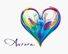 A heart shaped out of smoky air, ink drops in water or.. Very colorful brand for your company.