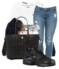 """""""Untitled #170"""" by barbiebih ❤ liked on Polyvore featuring Victoria's Secret, Michael Kors, MCM and NIKE"""