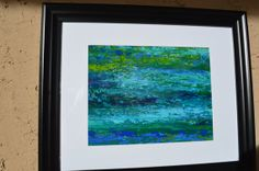 Original painting Deep Oceans of Blue Layers of by ArtbyRochelle, $125.00