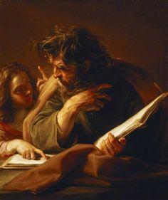Saint Matthew / San Mateo // 1740-1743 // Pompeo Batoni // National Trust, Basildon Park // #Gospel #Evangelio