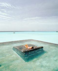 Pool Lounging, The Maldives Islands.