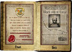 Harry Potter/ Hogwarts Invitations  Custom by amaginationstudios, $35.00