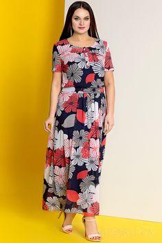 Платье Olga Style с387 сине-красные тона Catalog, Style, Swag, Brochures, Outfits