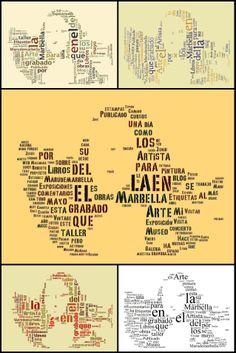 """From the """"Tú Lisa, yo Conda"""" project comes """"0329 Maru de Marbella [artist] -- La Gioconda como 'pre-texto' [La Gioconda as 'pre-text']"""" -- I love text art and this is certainly a clever example. The artist's comments do make a deliberate pun of """"pre-text"""" versus """"pretext."""""""