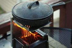 BrightFire Escape | BrightFire Stoves Stainless Steel Griddle, Charcoal Grill, Stoves, Grilling, Outdoor Decor, Charcoal Bbq Grill, Skillets, Crickets, Stove