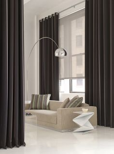 Elegant Tall Curtains Ideas for Your Home Living Room 2019 Awesome Tall Curtai… - Modern Home Living Room, Modern Room, The Shade Store, Curtains Living, Living Room Windows, Modern Curtains, Modern Windows, Window Treatments Living Room, Window Treatments Bedroom