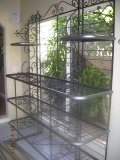 What I could do with this. $895 BO Huge Authentic French BAKERS RACK Display Rack #countryfrenchkitchens