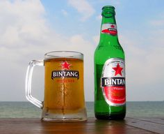 Delicious #bintang #beer by the beach in Indonesia.