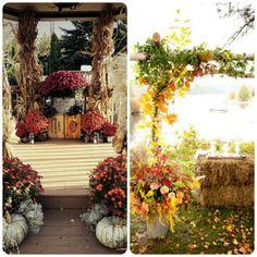 fall+wedding+ceremony+decorations | Fall Wedding Ceremony Ideas 1