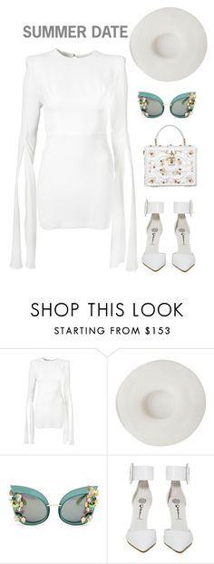 """""""Summer date"""" by yagmur ❤ liked on Polyvore featuring Ryan Roche, Dolce&Gabbana and Jeffrey Campbell"""